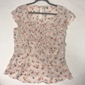 LC Floral Peplum Blouse